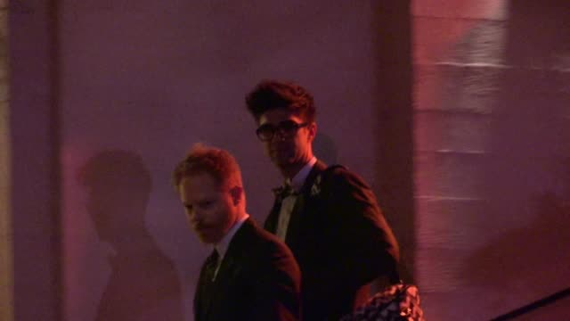 Jesse Tyler Ferguson Justin Mikita leaving the Ebell Theater in Los Angeles 03/03/12
