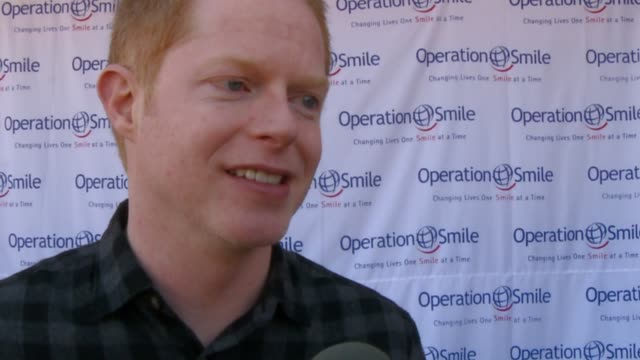 jesse tyler ferguson on getting involved at operation smile first annual celebrity smile challenge on 3/31/12 in park city ut - jesse tyler ferguson stock videos and b-roll footage