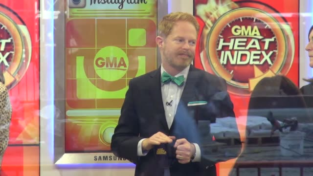 Jesse Tyler Ferguson on the set of the Good Morning America show Celebrity Sightings in New York Celebrity Sightings in New York on May 12 2014 in...