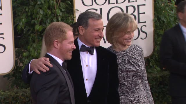 jesse tyler ferguson robert iger at 70th annual golden globe awards arrivals 1/13/2013 in beverly hills ca - jesse tyler ferguson stock videos and b-roll footage