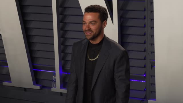 jesse williams at 2019 vanity fair oscar party hosted by radhika jones at wallis annenberg center for the performing arts on february 24, 2019 in... - vanity fair oscar party stock videos & royalty-free footage