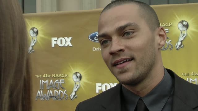 jesse williams on the image awards being his first award show, what tonight means to him, making the transition from film to tv, how its been to join... - cast member stock videos & royalty-free footage