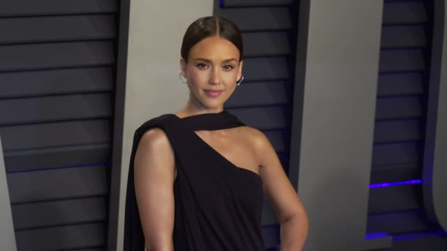 Jessica Alba and Cash Warren at 2019 Vanity Fair Oscar Party Hosted By Radhika Jones at Wallis Annenberg Center for the Performing Arts on February...