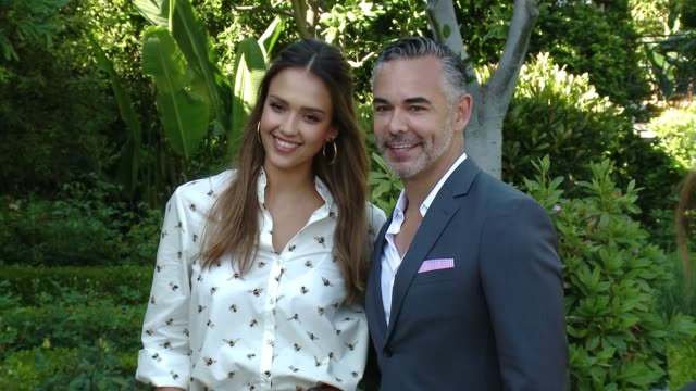 Jessica Alba and Rick Gomez at the Victoria Beckham For Target Launch Event on April 1 2017 in Los Angeles California
