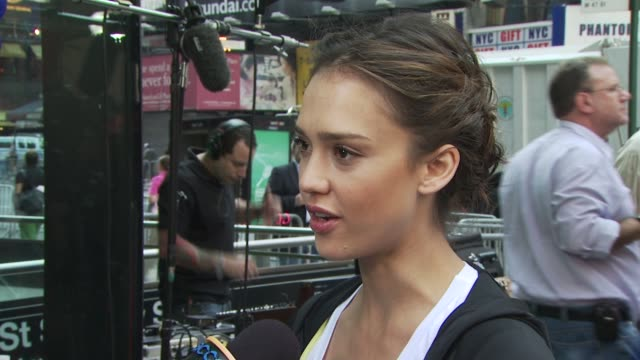 jessica alba at the 13th annual eif revlon run/walk for women at new york ny - revlon stock videos and b-roll footage