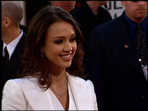 Jessica Alba at the 2002 Golden Globe Awards at the Beverly Hilton in Beverly Hills California on January 20 2002