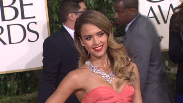 Jessica Alba at the 70th Annual Golden Globe Awards Arrivals in Beverly Hills CA on 1/13/13