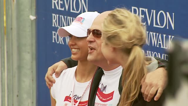 jessica alba, michael chiklis, and beau garrett at the revlon run/walk for women celebration of 14 years in los angeles at the los angeles memorial... - michael chiklis stock videos & royalty-free footage