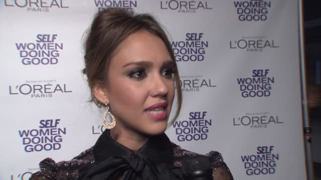 Jessica Alba on various subjects at SELF Magazine's 5th Annual Women Doing Good Awards Jessica Alba on various subjects at SELF Magazine' at IAC...