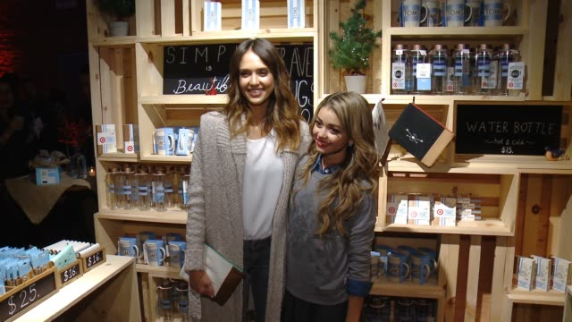 Jessica Alba Sarah Hyland at TOMS For Target Launch Event at The Book Bindery on November 12 2014 in Culver City California