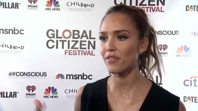INTERVIEW Jessica Alba says it's wonderful for young people to have a platform like globalcitizenorg to get active about something which they feel...