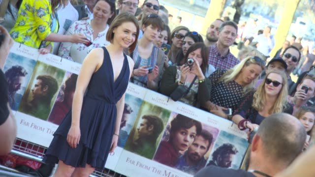jessica barden at 'far from the madding crowd' premiere at bfi southbank on april 15, 2015 in london, england. - bfi southbank stock videos & royalty-free footage