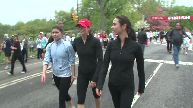 Jessica Biel and Jennifer Connelly at the 12th Annual EIF Revlon Run/Walk for Women in New York City at New York NY
