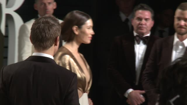jessica biel and justin timberlake at 2017 vanity fair oscar party hosted by graydon carter on february 26 2017 in beverly hills california - justin timberlake stock videos & royalty-free footage