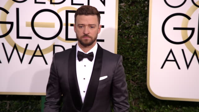 jessica biel and justin timberlake at the 74th annual golden globe awards arrivals at the beverly hilton hotel on january 08 2017 in beverly hills... - justin timberlake stock-videos und b-roll-filmmaterial