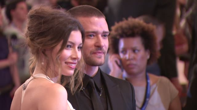 jessica biel and justin timberlake at the 'american woman fashioning a national identity' met gala arrivals at new york ny - justin timberlake stock-videos und b-roll-filmmaterial