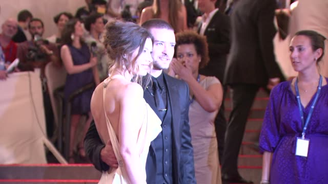 jessica biel and justin timberlake at the 'american woman fashioning a national identity' met gala arrivals at new york ny - justin timberlake stock videos & royalty-free footage