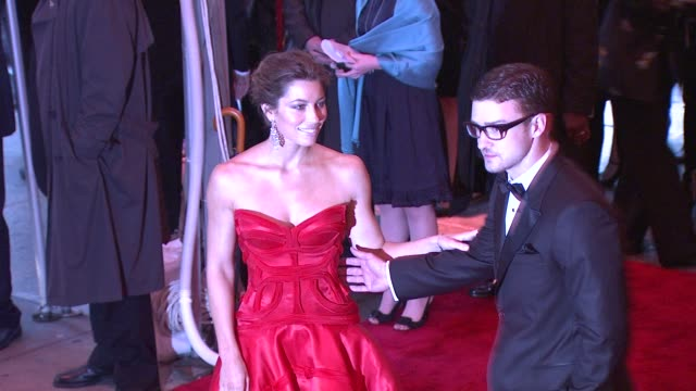jessica biel and justin timberlake at the 'the model as muse: embodying fashion' costume institute gala at the metropolitan museum of art - arrivals... - justin timberlake stock videos & royalty-free footage