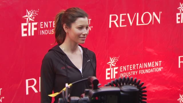 jessica biel at the 13th annual eif revlon run/walk for women at new york ny - revlon stock videos and b-roll footage