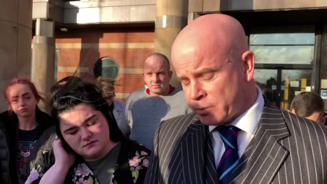 jessica breeze outside teesside crown court with solicitor sean grainger after she was cleared of murdering her father the jury accepted the... - self defence stock videos & royalty-free footage