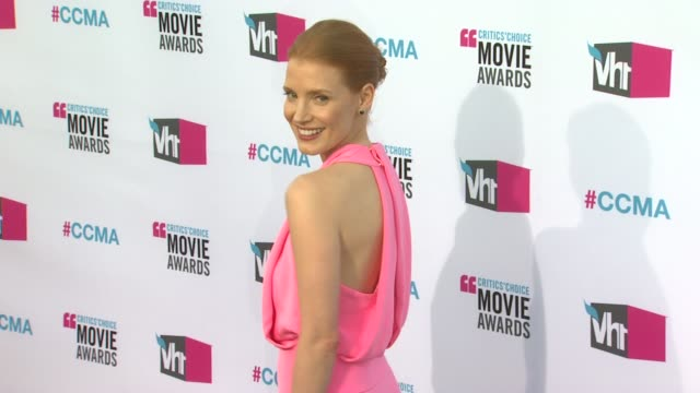 Jessica Chastain at 17th Annual Critics' Choice Movie Awards on 1/12/12 in Hollywood CA