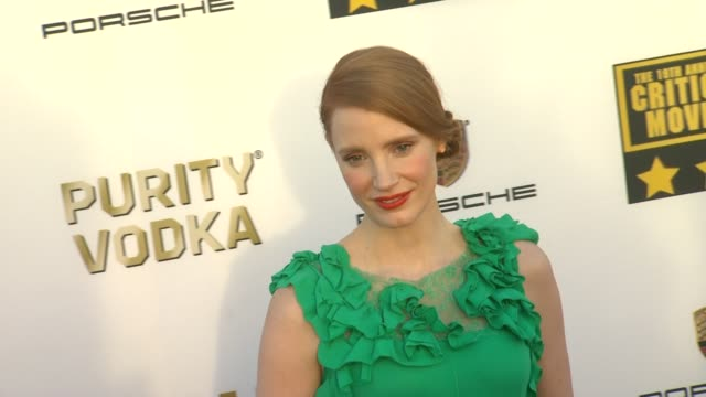 Jessica Chastain at 19th Annual Critics' Choice Movie Awards Arrivals at The Barker Hanger on in Santa Monica California