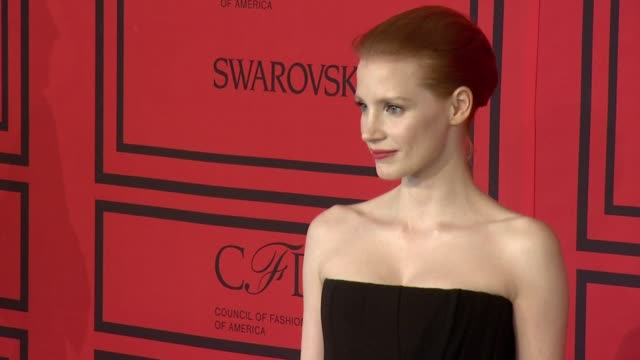 Jessica Chastain at 2013 CFDA Fashion Awards Arrivals at Alice Tully Hall on June 03 2013 in New York New York