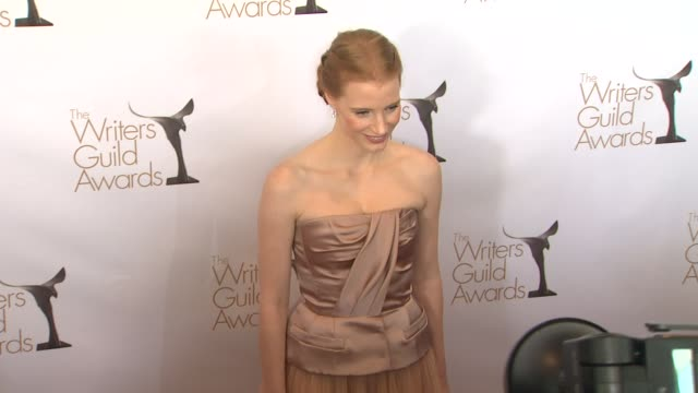 jessica chastain at 2013 writers guild awards jessica chastain at 2013 writers guild awards at jw marriot at la live on february 17 2013 in los... - tulle stock videos and b-roll footage