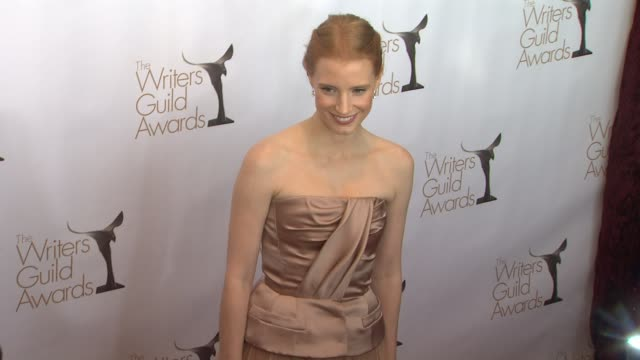 Jessica Chastain at 2013 Writers Guild Awards Jessica Chastain at 2013 Writers Guild Awards at JW Marriot at LA Live on February 17 2013 in Los...