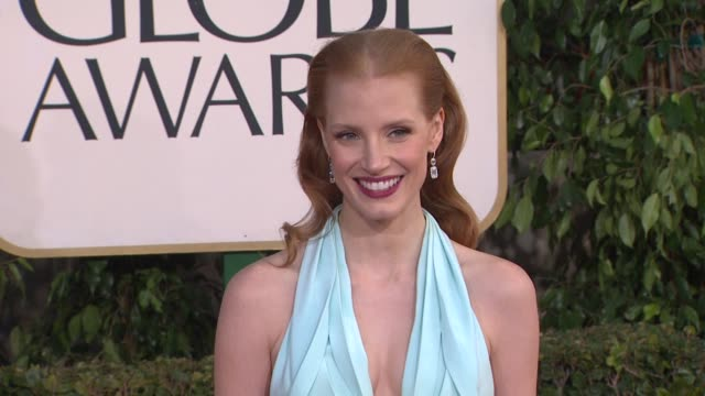 Jessica Chastain at 70th Annual Golden Globe Awards Arrivals on 1/13/13 in Los Angeles CA