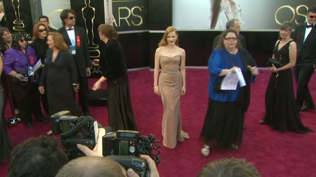 Jessica Chastain at 85th Annual Academy Awards Arrivals 2/24/2013 in Hollywood CA