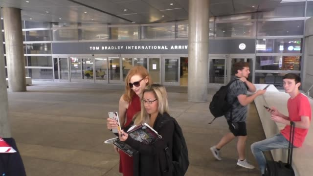 Jessica Chastain at Los Angeles International Airport at Celebrity Sightings in Los Angeles on May 13 2016 in Los Angeles California