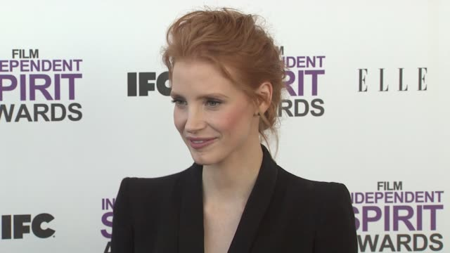 jessica chastain at the 2012 film independent spirit awards - arrivals on 2/25/12 in santa monica, ca, united states. - independent feature project stock videos & royalty-free footage