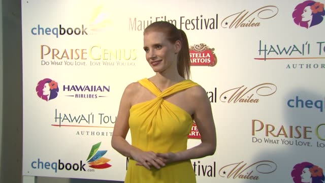 Jessica Chastain at the 2013 Maui Film Festival at Wailea Jessica Chastain at the 2013 Maui Film Festival on June 12 2013 in Wailea Hawaii