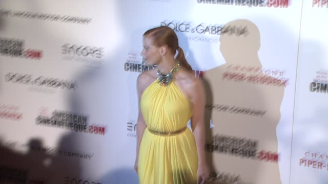 jessica chastain at the 28th american cinematheque award honoring matthew mcconaughey at the beverly hilton hotel on october 21 2014 in beverly hills... - american cinematheque stock videos & royalty-free footage