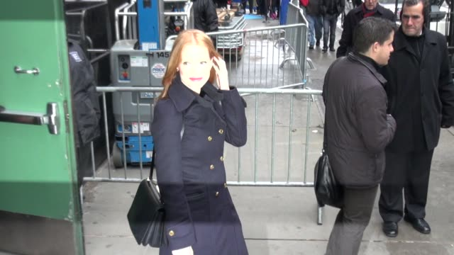 Jessica Chastain at the 'Good Morning America' studio in New York NY on 11/8/12