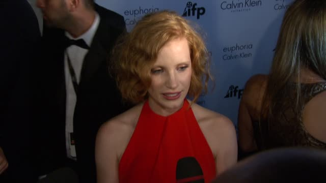 Jessica Chastain at the IFP and Calvin Klein's Tribute to 'Woman of Cannes' 2011 at the Calvin Klein Party Arrivals 64th Annual Cannes Film Festival...