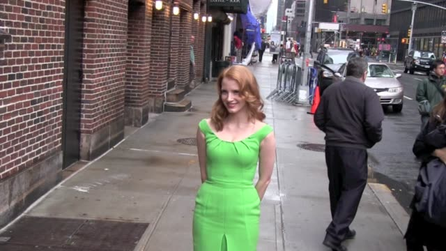 Jessica Chastain at the 'Late Show with David Letterman' studio in New York on 1/17/2011