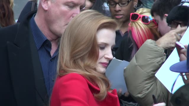 Jessica Chastain at the 'Late Show with David Letterman' studio in New York NY on 1/7/13