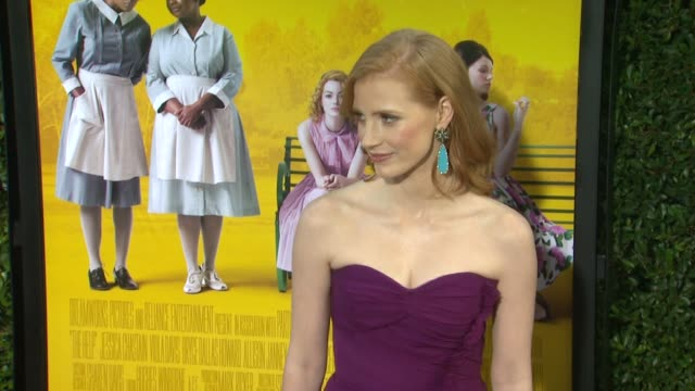 Jessica Chastain at the 'The Help' Los Angeles Premiere at Beverly Hills CA