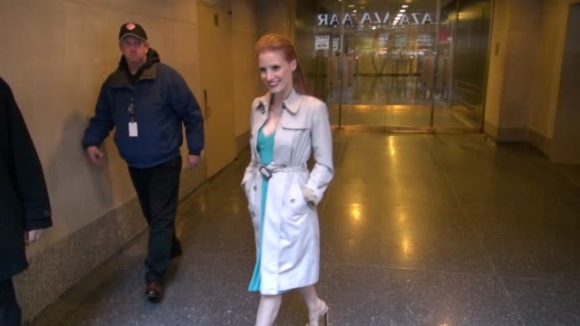 Jessica Chastain at the 'TODAY' show studio Jessica Chastain at the 'TODAY' show studio on December 06 2012 in New York New York