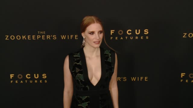 "Jessica Chastain at ""The Zookeeper's Wife"" Los Angeles Premiere Presented by Focus Features in Los Angeles CA"