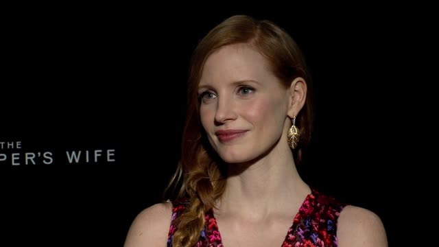 INTERVIEW Jessica Chastain at 'The Zookeeper's Wife' Press Junket on March 20 2017 in New York City