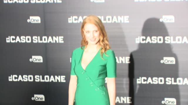 Jessica Chastain attends 'Miss Sloane' Photocall at Urso hotel