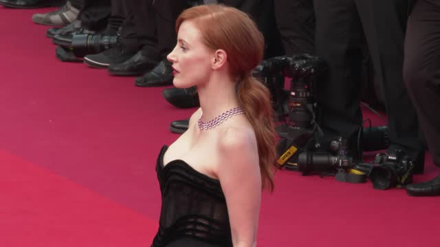 """jessica chastain attends the """"annette"""" screening and opening ceremony during the 74th annual cannes film festival on july 6, 2021 in cannes, france. - cannes stock videos & royalty-free footage"""