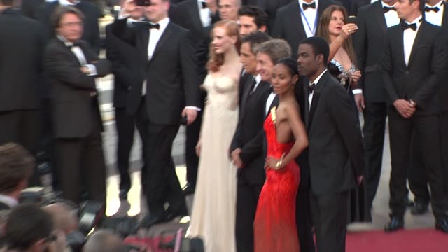 Jessica Chastain David Schwimmer Ben Stiller Martin Short Jada Pinkett Smith and Chris Rock at Madagascar 3 Europe's Most Wanted Premiere 65th Cannes...
