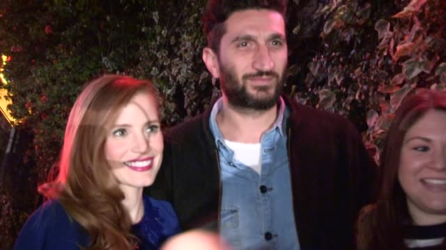 Jessica Chastain Fares Fares greet fans at Chateau Marmont in West Hollywood 02/20/13