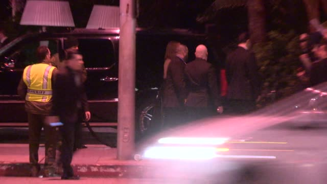 Jessica Chastain Gian Luca Passi greeting fans while departing the CAA Party at the Sunset Tower in West Hollywood in Celebrity Sightings in Los...