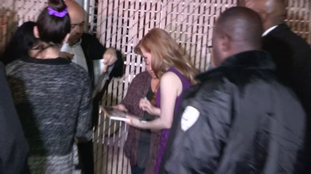 Jessica Chastain greeting fans at the Jimmy Kimmel Studio in Hollywood in Celebrity Sightings in Los Angeles