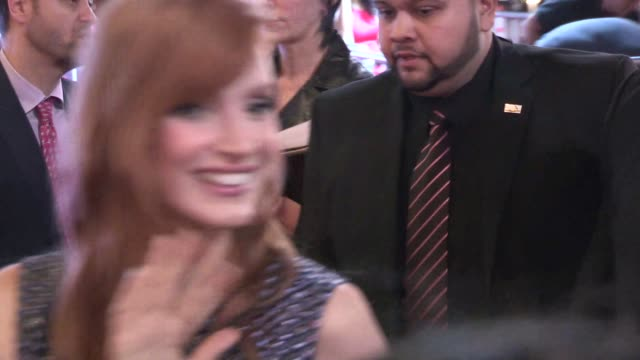Jessica Chastain greets fans at AFI FEST 2014 in Hollywood at Celebrity Sightings in Los Angeles on November 06 2014 in Los Angeles California